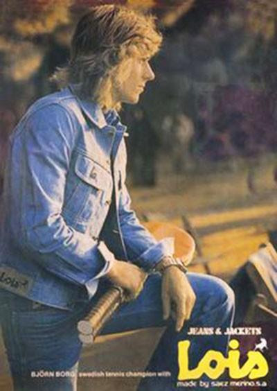 Рекламный постер джинсовой куртки LOIS