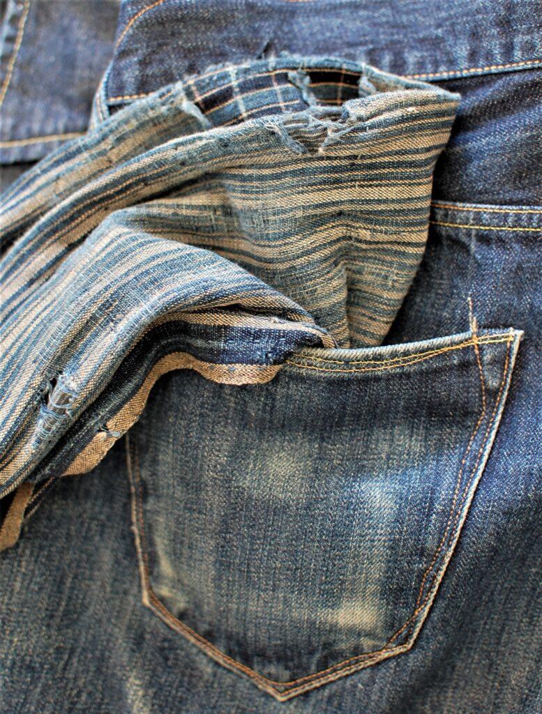Японские джинсы 1973 - ткань BORO
