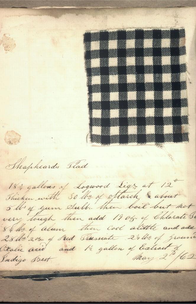 Прототип ткани 19 века для джинсов