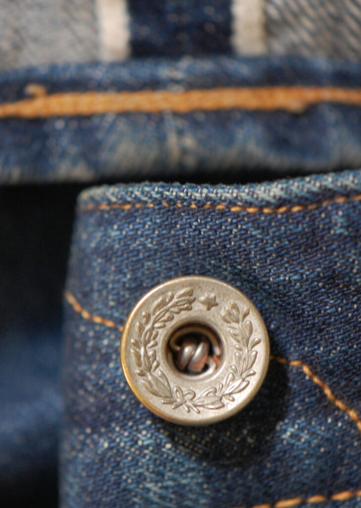 Пуговицы на японских джинсах 1973